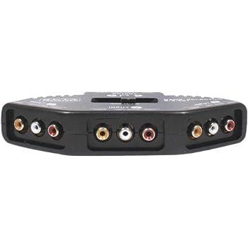 Commutateur 3 voies RCA audio/vidéo