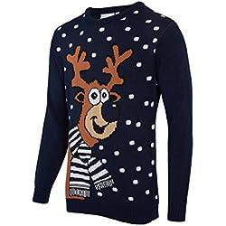 Jersey de Navidad Rudolph color azul marino, medium