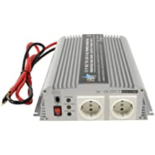 HQ INV1KW - Inversor de corriente para vehículos (indicadores LED, 1000 W, 230 V), plateado