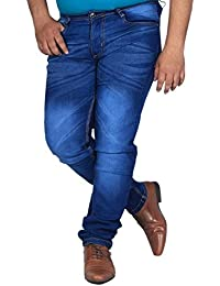 L,Zard Slim Fit Blue Stretchable Jeans for Men's Jeans for Blue Jeans for Men,Men's Blue Jeans