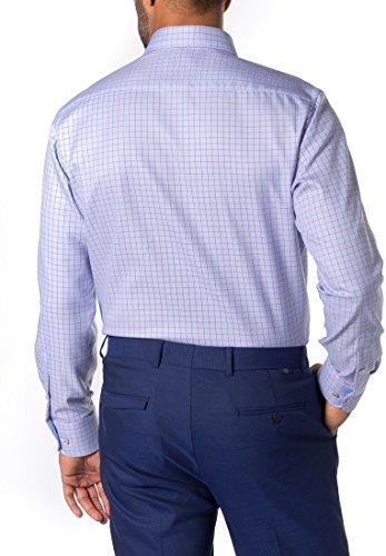 ETERNA long sleeve Shirt MODERN FIT Twill checked azzurro chiaro/rosso