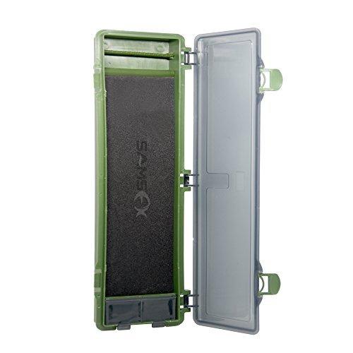 Caja rígida para aparejos de pesca de carpa de SAMSFX, caja de almacenamiento para aparejos