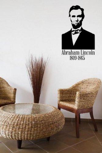 abraham-lincoln-16th-aux-tats-unis-prsident-sticker-mural-vinyle-noir-small-30cm-x-50cm-12-x-20