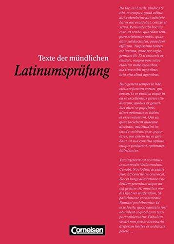 Texte der mündlichen Latinumsprüfung,