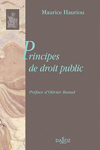 Principes de droit public: Réimpression de l'édition de 1910