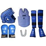 Kai Approved Goodwin Karate Safety Kit Blue-Pack Of Head Guard, Chest Guard, Hand Gloves, Shin Guard And Mouth Guard-Size - Large