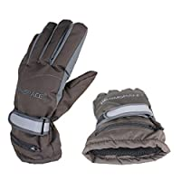 Samber Hand Back Heating Electric Gloves Rechargeable Warm Gloves 4 Hours Heating Waterproof Windproof Heated Gloves (Coffee -Men)