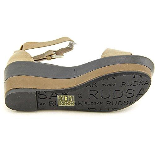 Rudsak Tourterelle Femmes Cuir Sandales Dove-Dove Black