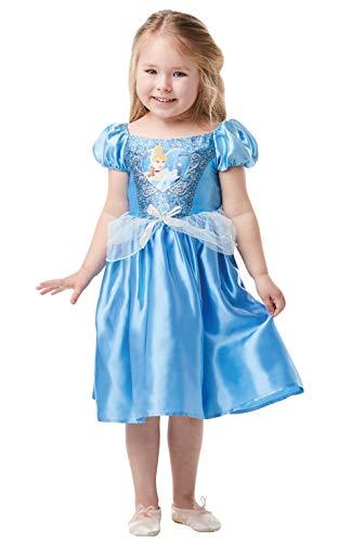 Rubie's Offizielles Disney Prinzessin Pailletten Cinderella Kostüm Kinder Kleinkind Größe Alter 2-3 Jahre, Höhe 98 cm