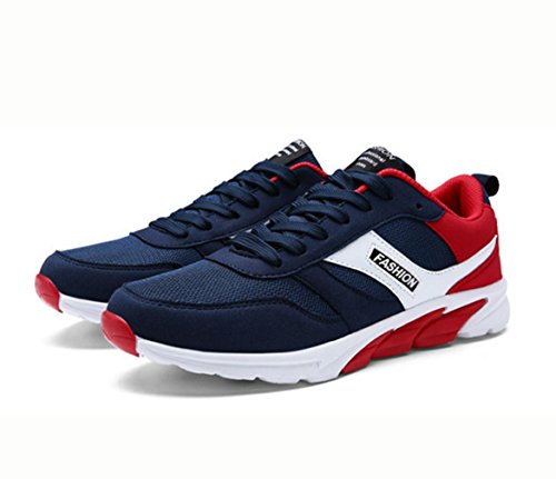 Tênis Respirável Sapatos Wzg Baixos Masculinos Calçados Malha Homens Apontou Azul Juvenis Vermelhos Casuais nwAYxIqz