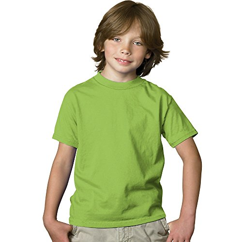 hanes-52-oz-gioventu-comfortsoft-pesante-maglietta-verde-medium