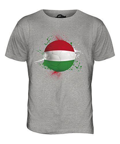 CandyMix Ungarn Fußball Herren T Shirt Grau Meliert