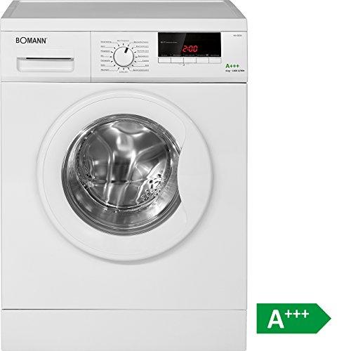 Bomann WA 5834 Waschmaschine FL/A+++ / 196 kWh/Jahr / 1400 UpM / 8 kg / 11000 L/Jahr / 8 kg Fassungsvermögen/weiß