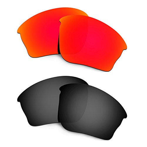 HKUCO Mens Replacement Lenses For Oakley Half jacket XLJ Sunglasses Red/Black Polarized