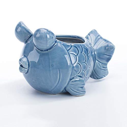 PLL Creative Blue Gold Shape Pot De Fleur Maison Bureau Petit Pot De Fleurs Balcon Jardin Intérieur