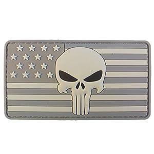 3D ACU Punisher American Drapeau PVC Gomme Velcro Écusson Patch