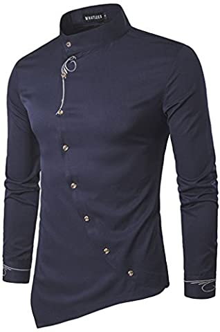 Whatlees Chemise ¨¤ manches longues ¨¤ manches longues ¨¤ manches longues ¨¤ manches longues B404-Navy-S