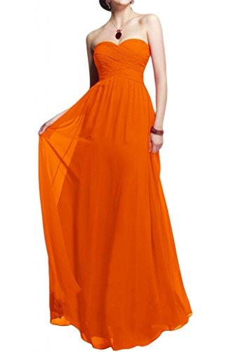 Toscane forme de mariée simple chiffon abendkleider-les demoiselles d'honneur party ballkleider ladies'fashion Orange