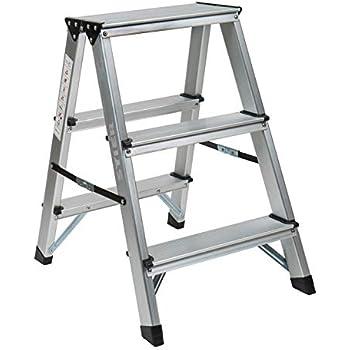 1PLUS Aluminium Tritt / Leiter Trittleiter Klapptritt 2 x