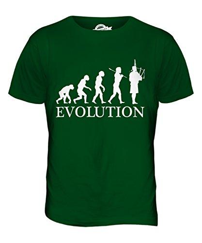 CandyMix Sackpfeife Dudelsack Evolution Des Menschen Herren T Shirt Flaschengrün