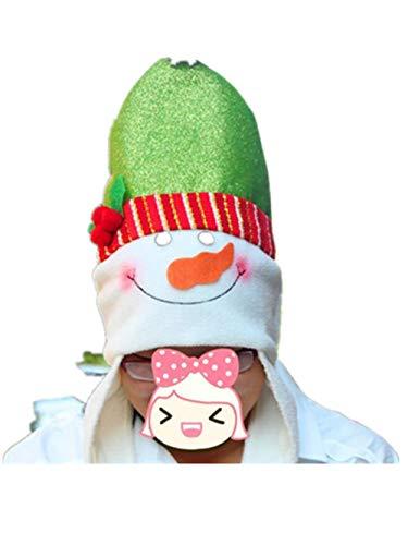 Kinder Weihnachtsmann Kostüm Muster - Amphia Weihnachtsmütze - Weihnachtsmütze - Unisex Erwachsene Kinder Weihnachtsmützen Nikolausmützen Weihnachtsmann Hüte Mützen Weihnachten Cap Leuchtendes Muster Xmas Abendessen Partei Kostüm