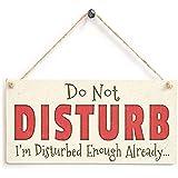 Shunry Do Not Disturb Wandbehang Plakette Zeichen Holzschild Dekor Rustikale Dekorationen Bad Schlafzimmer Toilette Hotel Begrüßungsbar