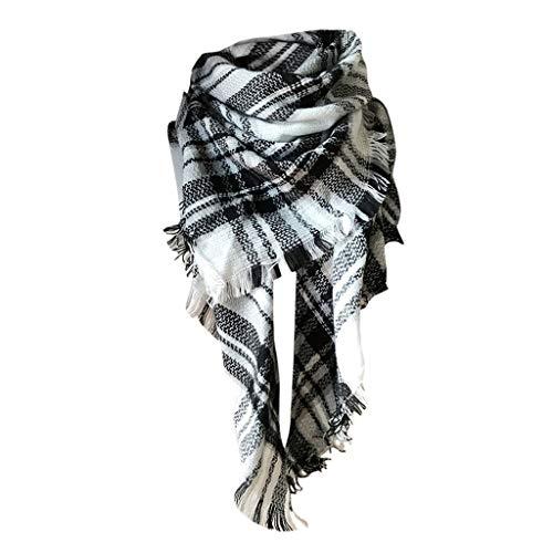 Moda nappe morbido donne sciarpa avvolgere scialle scarf wrap caldo modello lattice scialle stole con nappa stile quadrato (i, taglia unica)