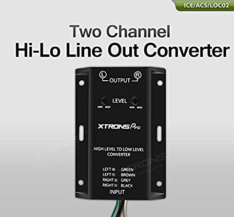 XTRONS 2 RCA Line-Out Hi-Lo High Level to Low Level