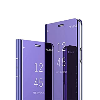 AURSEN Samsung Galaxy S9 Plus Clear View Standing Cover Case Tasche für Samsung Galaxy S9 Plus Lila