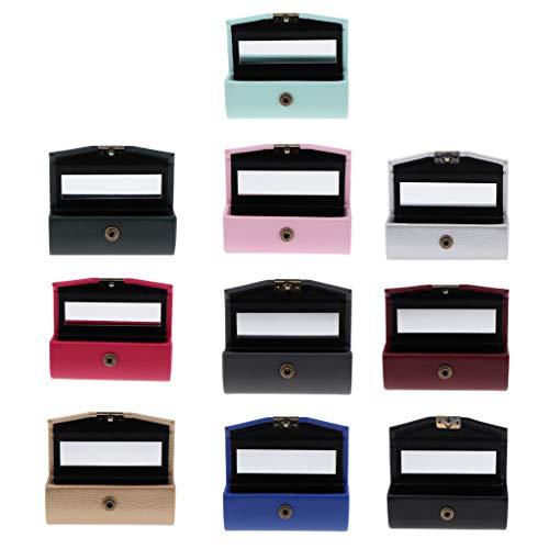 Homyl 10pcs Etui de Rouge à Lèvres avec Mirror Vintage Porte-rouge pour Maquillage avec Miroir Portable à Main Accessoires de Rangements pour produits