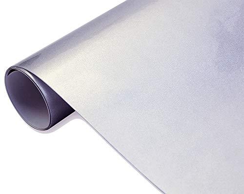 Neoxxim 8€/m2 Premium - Auto Folie - Hochglanz METALLIC Silber 100 x 150 cm Folie - blasenfrei mit Luftkanälen Klebefolie Selbstklebefolieselbstklebend flexibel