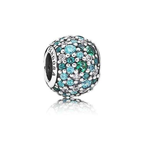 Pandora Damen-Bead Pavè-Kugel Meeresmosaik 925 Silber Zirkonia grün - 791261MCZMX
