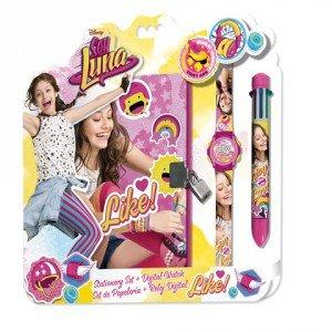 Soy Luna - Set con reloj, diario y bolígrafo (Kids WD18085)