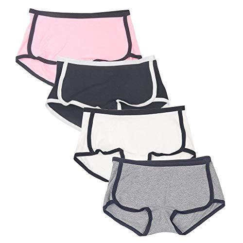 65e9ab1fcf16 Rokery Boxer Mujer Bragas Algodon Ropa Interior Femenina Boyshorts Culottes  Shorts Sports Panties Pack De 4