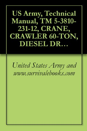 US Army, Technical Manual, TM 5-3810-231-12, CRANE, CRAWLER 60-TON, DIESEL DRIVEN (HARNISCHFEGER MODEL 1125) (FSN 3810-728- WINTERIZED AND (3810-701-7324) NON-WINTERIZED (English Edition) -