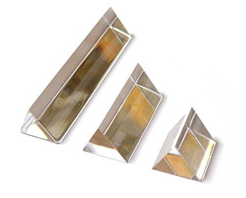 Eisco Labs gleichschenklige Acryl-Prismen, Seiten: 25 mm, 3 Stück (2,5 cm, 5 cm, 10 cm Länge)