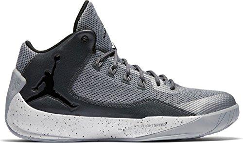 07 Basketballschuhe, Grau (Wolf Black-Dark Grey-White), 45 EU ()