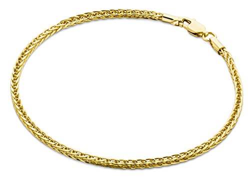 Miore Armband - Armreif Damen Gelbgold 9 Karat / 375 Gold Weizen Kette  19.5 cm (14-karat Gold Charm Bracelet)
