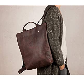 Mochila cuero marrón, mochila segura marrón, mochila mujer ciudad, mochilas viajes, mochila mujer piel, mochilas Barcelona, mochila grande