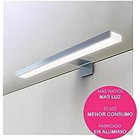 Oxen 213004 Aplique led de 60cm para iluminación del baño. Máxima luminosidad con Sus mas de 50leds Que Dan 13.8w y 1150 lúmenes, 13 V, Cromado