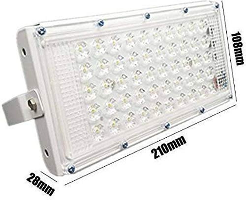 URBAN KING 50W Ultra Thin Slim IP65 LED Flood Outdoor Cool Day Light White Waterproof (50 watt)