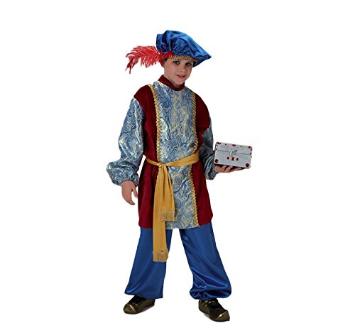 El Rey del Carnaval - Disfraz paje de lujo gaspar talla 3-5 - Gaspar Kind Kostüm