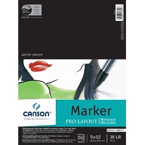 Canson Pro marcador de disposición Pad 9x 12