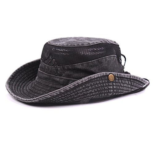 5852746b5 KeepSa Cotton Sun Hat UV Protection Summer Hats Beach Hat Safari Boonie Hat  Foldable Fishsing Hat with Breathable Mesh and Adjustable Chin Strap