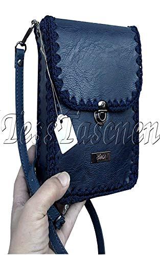 Kleine Frauen/Mädchen Umhängetasche Handy Geldbörse mit Schultergurt Mini Handtasche Veganes Leder Reisetasche Functional Pocket Crossbody Bag