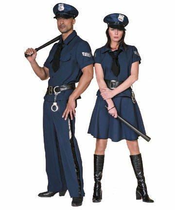 Gefangener Kostüm Cop - Wilbers Federbein Herren EU 56/UK und US 46Polizist Kostüm mit Top/Hose/Gürtel