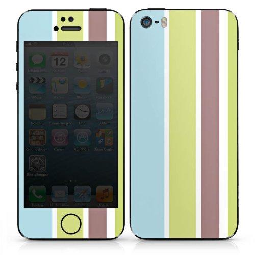 Apple iPhone 5c Case Skin Sticker aus Vinyl-Folie Aufkleber Streifen Pastell 90er DesignSkins® glänzend