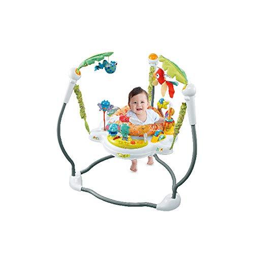 Jumperoo Tragbarer Babystuhl Neugeborenes Baby Activity Center Activity Jumper Regenwald Baby,C (Kinderbett Activity Center)