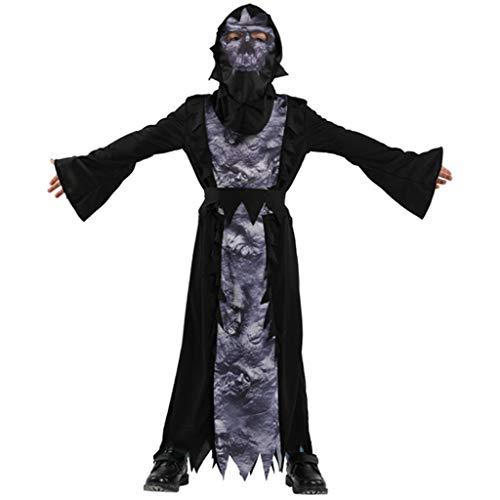 Kostüm Top 5 Scary - DMMDHR Halloween Halloween Party Schädel Skelett Kostüme Kinder Kind Scary Monster Demon Devil Ghost Sensenmann Kostüm für Jungen Mädchen, 5, M