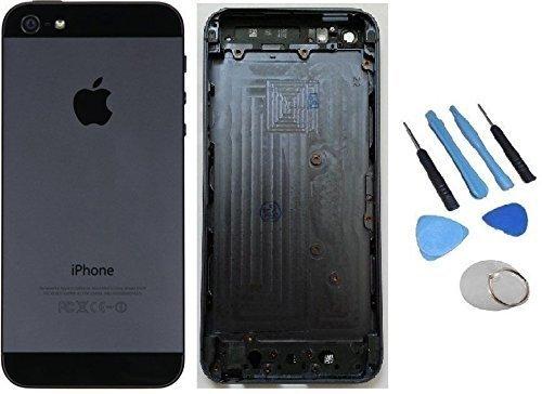 Express Shop Angebot! iPhone 5 5G Backcover Akkudeckel Rückseite Housing Gehäuse Middle Frame SCHWARZ BLACK SPACE GREY neu inklusive - Iphone 5 Rückseite Gehäuse